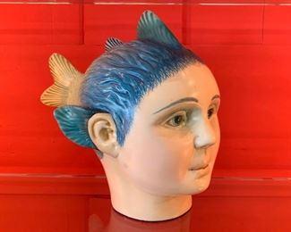 Vintage Bustamante Sculptural Head