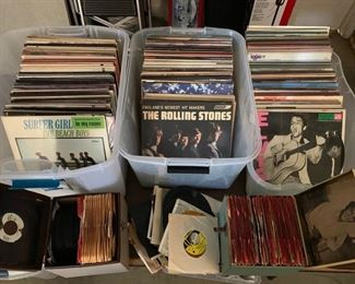 1950's, '60's, '70's Records;  33's and 45's; Rock, Comedy, Other;  Many Records Unopened