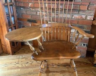 """""""Jean of Topanga"""" Comb-back Windsor Chair, one of the few unusual interpretations (coffee/card table, King Size 4-Poster Bed & Slant front Desk) by the Local Artist"""