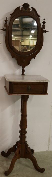 Victorian antlered marble top shaving stand