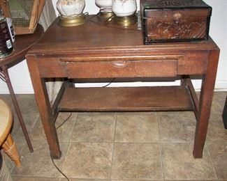 vintage library desk