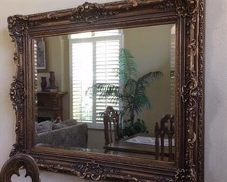 "Large ornate mirror, $150.  50 x 63"".     If interested, call now — 626-710-2867"