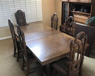 Dining set w/ 6 chairs, $695, to buy now call 626-710-2867