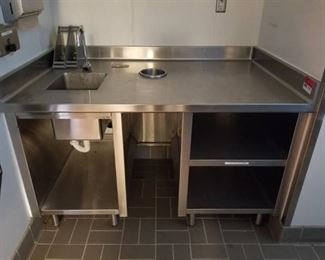 Stainless Prep Table With Sink