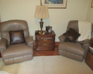 Matching Leather Reclining Chairs