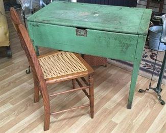 Primitive Slant Front Desk. Sunday Price $195