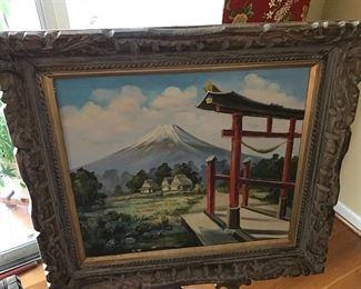 Beautiful oil painting brought back from Japan over 50 years ago.