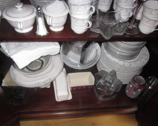 M Fine China Daryl Japan 5038 China Service For 16 with extras