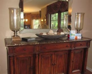 Marble Top Buffet/Sideboard Fredericksburg Mirror and more