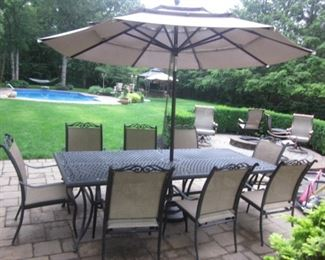 Martha Stewart Beautiful Outdoor Wicker Suite Members Mark Agio Patio Seating and Bar with Seating Outdoor Cantilever Umbrella