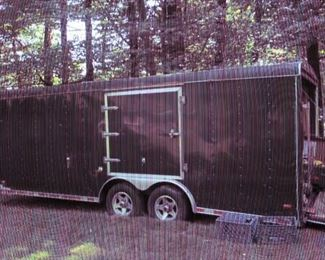 2005  20FT. ENCLOSED TRAILER.  MAN CAVE PACKED Mechanical Contractor
