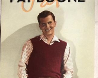 Pat Boone memorabilia and fan items to be sold at adjoining warehouse through the Pat Boone estate caretaker.  Come and check it out!