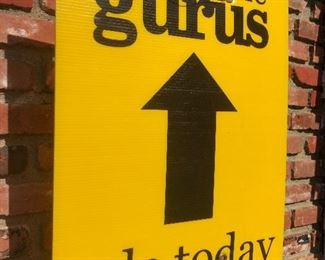 LOOK FOR OUR BRIGHT YELLOW SIGNS AND FOLLOW THE BLACK ARROWS TO OUR WAREHOUSE...