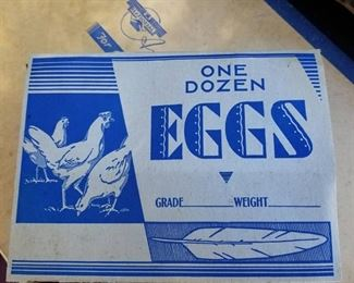 VINTAGE PAPER EGG CARTONS WITH THE INSERTS