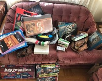 Assorted vintage games. Some unopened.