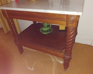 Beautiful marble top antique table