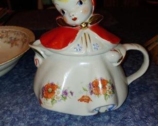 Rare antique Little Red Riding Hood pitcher