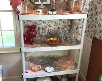 Pink depression glass and more