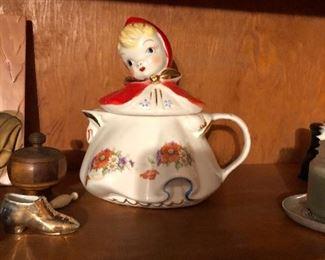 Rare Little Red Riding Hood teapot
