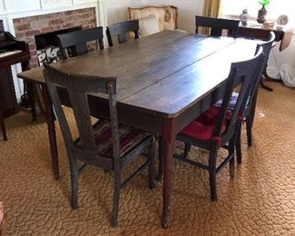 Amazing farm table and chairs