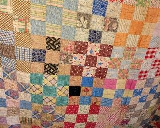 Gorgeous vintage hand-sewn quilts
