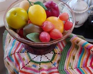 Times of handmade beautiful colorful doilies