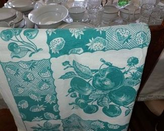 Beautiful vintage linen tablecloths