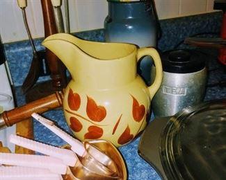 Watt Pottery juice pitcher