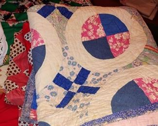 There is no shortage of vintage antique hand-sewn quilts