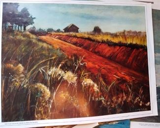 Love this print red clay Country Road