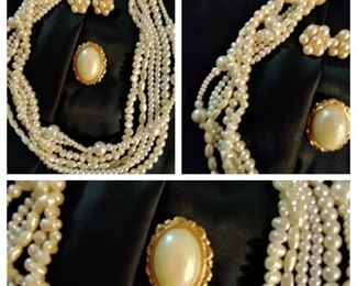 Large selection of vintage costume jewelry and new sterling silver jewelry( not pictured at this time)