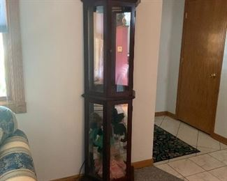 To curio cabinets put your precious items and