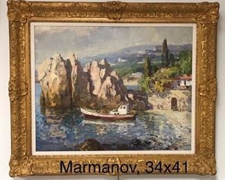 Piotr (Peter) Marmanov,(b. 1942)  Ukrainian School, oil on canvas, c. 1990, framed 34 x 41 in., canvas 26 x 332 in.) Gallery Price  $9500.  NEW Sale Price $2850.