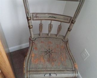 Antique Farm House Wood Chairs