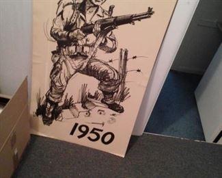 Original Korean Wartime Marine Posters
