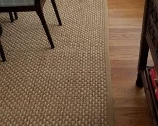 Nice rug; clean, good quality carpet throughout home