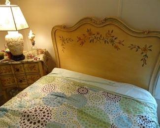 JOHN WIDDICOMB twin headboard & bedside stand