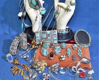 GREAT Native American Turquoise Jewelry, Sterling