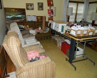 Furniture, records, comic books