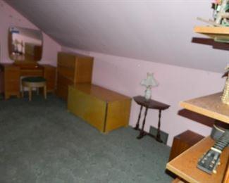 Bedroom furniture, storage chest, etc.