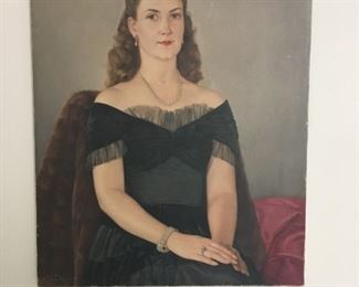 Vintage Oil Portrait