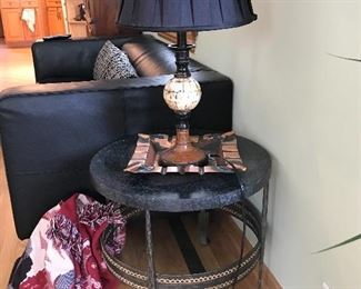 Unique round end table