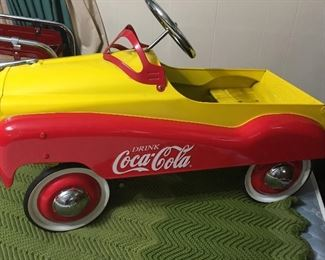 Heavy Metal Coca-Cola Pedal Car (Never Used - Mint Condition)