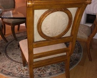 Walter E Smith round table with 6 chairs and the rug