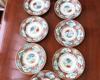 Collection of old Imari plates