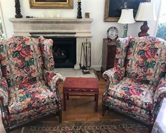 Wing chairs and accessories