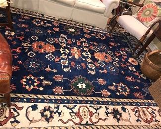 Antique wool hand made rug.