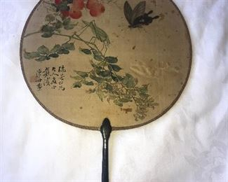 Antique Chinese fan painting