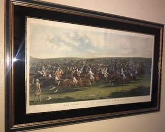 Many antique high quality Hunt scene engarvings and aquatint pieces