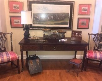 Library table and accessories
